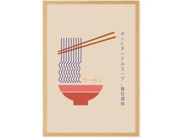 Fresh Noodles Daily gerahmter Kunstdruck (A3), Mehrfarbig