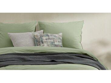 2 x Alexia Kopfkissenbezuege (65 x 65 cm) aus 100 % stonewashed Baumwolle, Dunkelkoralle
