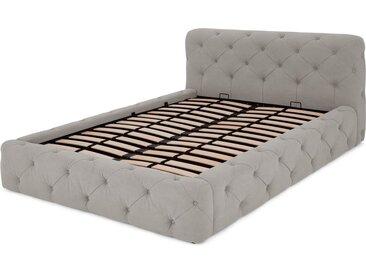 Sloan Polsterbett mit Bettkasten (180 x 200 cm), Grau