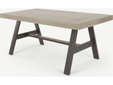 Edson Gartentisch, Beton und Metall