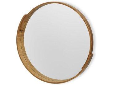 VundA Plywood runder Spiegel (50 cm), Schichtholz in Natur