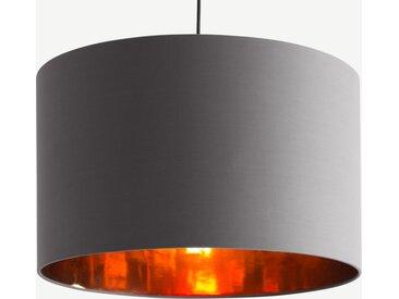 Oro Lampenschirm (55 cm), Grau und Kupfer