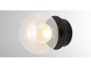 Masako LED-Wandleuchte, getoentes Glas und Milchglas
