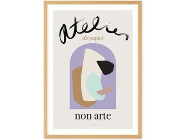 Abstract Non Arte Exhibition Poster by Nynne Rosenvigne gerahmter Kunstdruck (weitere Groessen erhaeltlich), Mehrfarbig