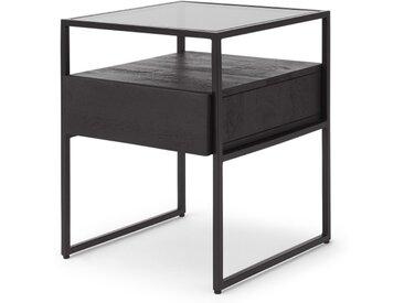 Kilby Nachttisch, schwarz gebeiztes Mangoholz