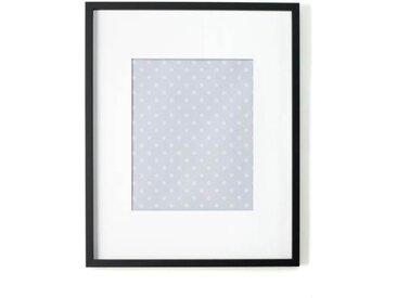 Portland Bilderrahmen 40 x 50 cm, Schwarz mit weissem Passepartout (30 x 24 cm)