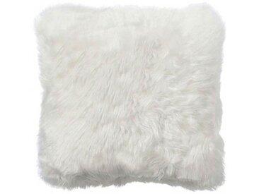 Neuseeland - Kissen aus Lammfell, weiss, quadratisch 45*45 cm