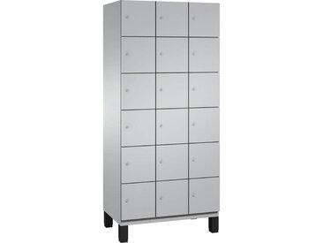 C+P Garderobenschrank mit 3x6 Fächern übereinander, b90xt52xh198cm