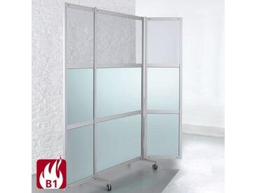 SCREEN-INTRO Mobile Brandschutz-Faltstellwand, 3-teilig, b100(200)xt45xh190cm
