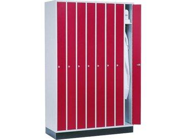 C+P Raumspar-Garderobenschrank mit 8 Abteile, b122xt50xh185cm