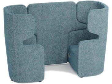 BISLEY VIVO 2 gegenüberliegende Sessel mit 1 Steckdose und 2 USB