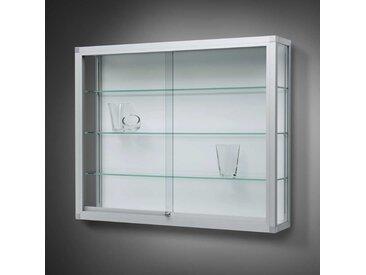 VERTUM 100 Wandvitrine mit Glasschiebetüren, Profilrahmen gerundet, b102xh100xt25cm