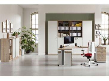 EXPERT Büromöbel Set, Einzelarbeitsplatz, 450x350cm