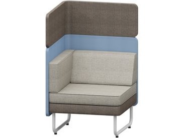 PLAY&WORK 1-Sitzer Sofa, niedrige Rückwand mit Aufsatzpaneel