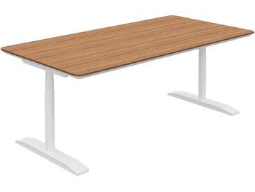RANGE höhenverstellbarer Schreibtisch mit horizontalem Kabelkanal, b200xt100xh68-129cm