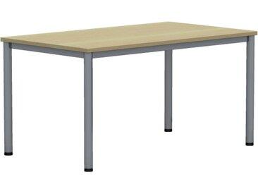 EXPERT Schreibtisch mit Rundrohrgestell, rechteckig, 80cm tief