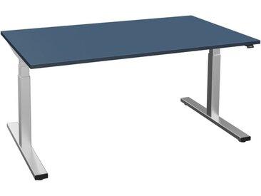 LEVEL 2.0 höhenverstellbarer Schreibtisch, Laminat Beschichtung, rechteckig, 90cm tief