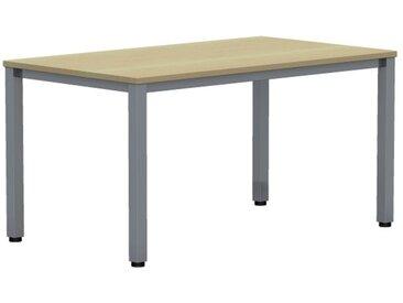 EXPERT Schreibtisch mit Quadratrohrgestell, rechteckig, 100cm tief
