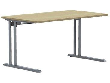 EXPERT Schreibtisch mit C-Fuß-Gestell und Kabelkanal, rechteckig, 80cm tief
