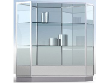 LINK Eck-Vitrinenmodul Für Theken 135°, voll-verglast, b125xt60xh90cm