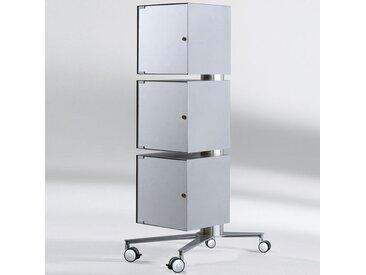STANDINGS Aluminium Ständersystem mit 3 Schränken b50xt60xh120cm