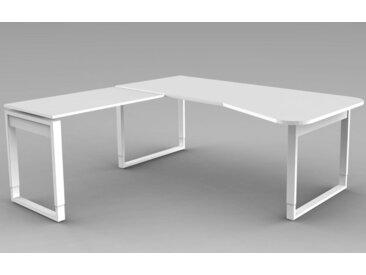 FRESH Freiformtisch b195xt80/100cm, mit Anbauelement