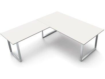 AVETO Schreibtisch mit Kufengestell b200xt100xh68-82cm, mit Anbauelement