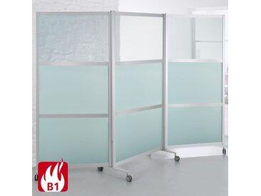 SCREEN-INTRO Mobile Brandschutz-Faltstellwand, 3-teilig, b100(280)xt45xh190cm