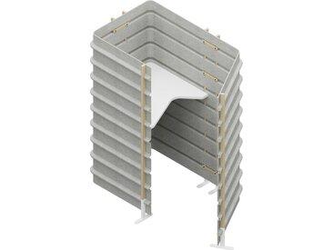 TEPEE Steharbeitsplatz mit Tischplatte, freistehend, Arbeitsplatte Breite=80cm