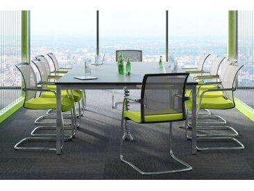 EXPERT Büromöbel Set, 1 Konferenzplatz mit 10 Besucherstühlen, 300x450cm