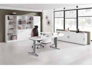 EXPRESS XB-Serie Büromöbel Set, 1 Arbeitsplatz, 400x400cm