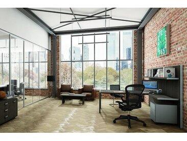 TREND TOWER Büromöbel-Set, Einzelarbeitsplatz mit Loungetisch, 500x500cm