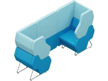 HEXA WALL 2-SITZER, Sitzmodule 1x HEXA-12L und 1x HEXA-12R mit 1x HEXA-WALL