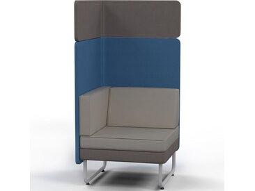 PLAY&WORK 1-Sitzer Sofa, hohe Rückwand mit Aufsatzpaneel