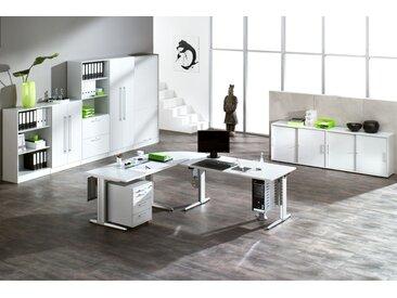 EXPRESS XE- und XS-Serie Büromöbel Set, 1 Arbeitsplatz, 450x450cm