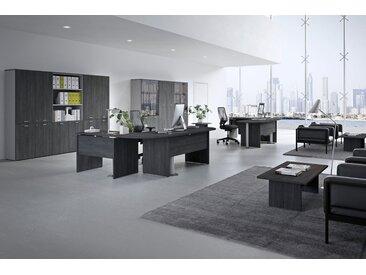 TREND PUR Büromöbel Set, 2 Einzelarbeitsplätze mit Schränken, 500x500cm
