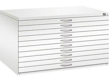 C+P Flachablageschrank mit 10 Schubladen (10x6,6cm) für DIN A0