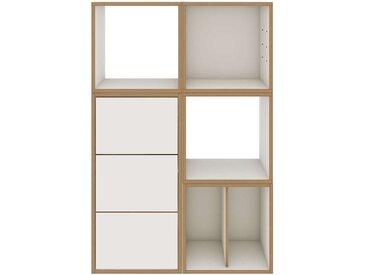 BISLEY BOB Büroregal mit 5 Fächern und 3 Schubladen, b80xt38xh120cm