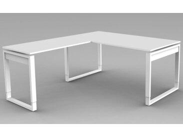 FRESH Schreibtisch mit Anbauelement, 160x180x68-82cm
