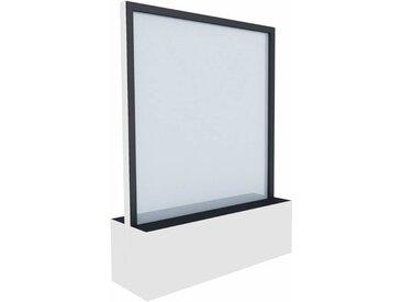 C+P Mobile Glas-Wasserwand, b120xt40xh163cm