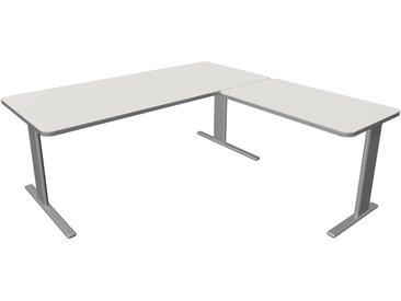 UNIC Schreibtisch mit Anbauelement, C-Fuß-Gestell, 180x180x75cm