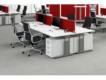 GERAMÖBEL Büromöbel Set, 4 Arbeitsplätze 450x450cm