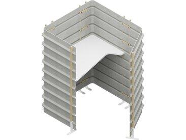 TEPEE Steharbeitsplatz mit Tischplatte, freistehend, Arbeitsplatte Breite=120cm