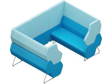 HEXA WALL 4-SITZER, Sitzmodule 1x HEXA-22L und 1x HEXA-22R mit 1x HEXA-WALL