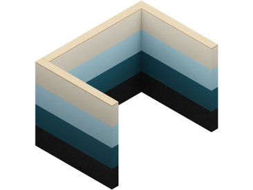 SAND W03-0 Akustik-Wandsystem, b235xt170xh160cm