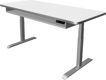 MOVE PREMIUM Steh-Sitz-Schreibtisch mit Ablageboard, b180xt80xh62-127cm