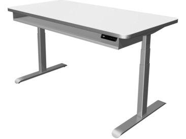 MOVE PREMIUM Steh-Sitz-Schreibtisch mit Ablageboard, b160xt80xh62-127cm