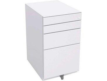 BISLEY OBA Rollcontainer 100% Auszug, 2 Schubladen 10cm, 1 Schublade 15cm, 1 HR-Schublade, 56cm tief