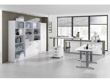 EXPRESS XBHM-Serie Büromöbel Set, 1 Arbeitsplatz, 400x450cm