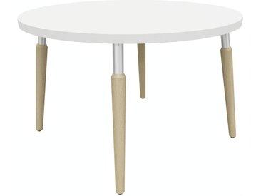 TAUKO Loungetisch mit 4-Fuß-Holzgestell, rund, Ø 60/80cm